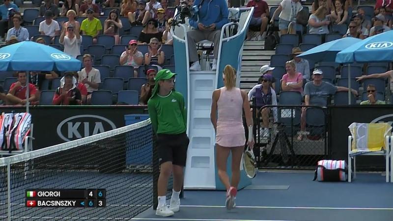 Giorgi v Bacsinszky match highlights Australian Open 2017