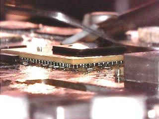 процесс посадки BGA чипа Intel  HM65 SLJ4P в ноутбуке Lenovo G570