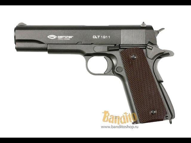 Пневматический пистолет Gletcher CLT 1911 Кольт блоубэк обзор