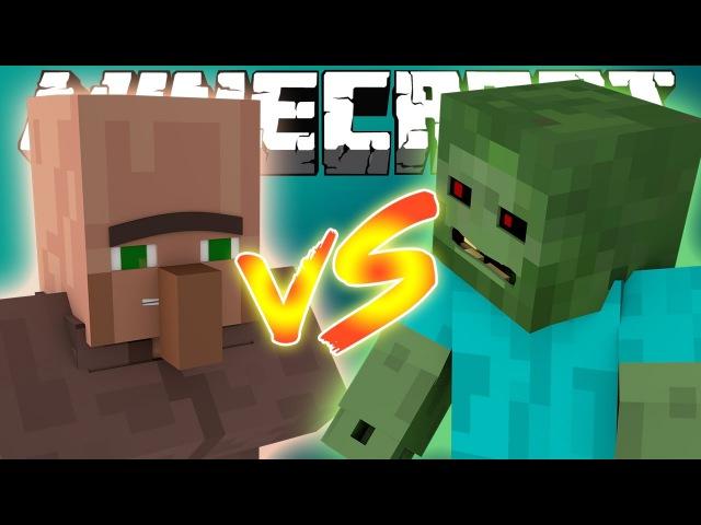 майнкрафт жители vs зомби #1