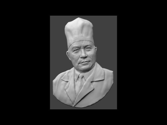Sculpting portrait bas-relief . Y. I. Ezhov Скульптинг портретного барельефа . Ю.И. Ежов
