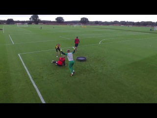 Amazing! Norwich keepers in epic Spikeball battle as part of innovative training drill!
