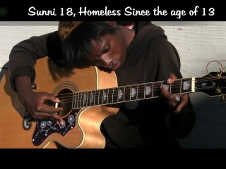 """Amazing venice beach homeless girl on guitar """"voices in the sand"""""""