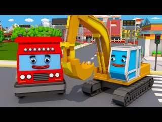 Videos para niños - Camión y Excavadora - Sorpresa! - NUEVO Carritos para niños