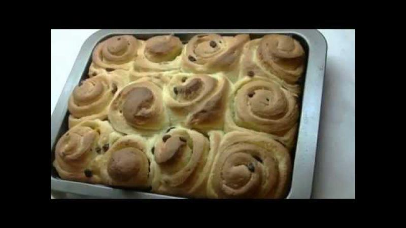 Сдобные дрожжевые булочки пасхальное тесто Sweet yeast buns Easter dough