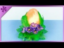 DIY How to make kanzashi Easter Egg with crocuses and feathers (ENG Subtitles) - Speed up 453