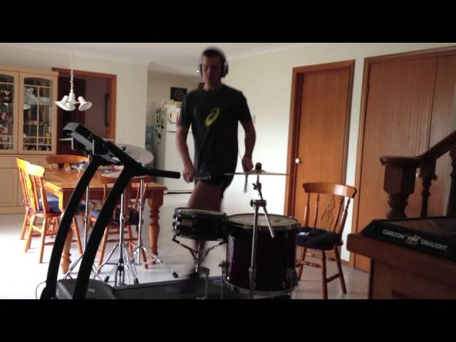 The Treadmill Drummer 2 All The Small Things Blink 182 Drum Cover HD