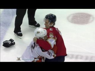 Kevin Bieksa vs Alex Petrovic Feb 3, 2017