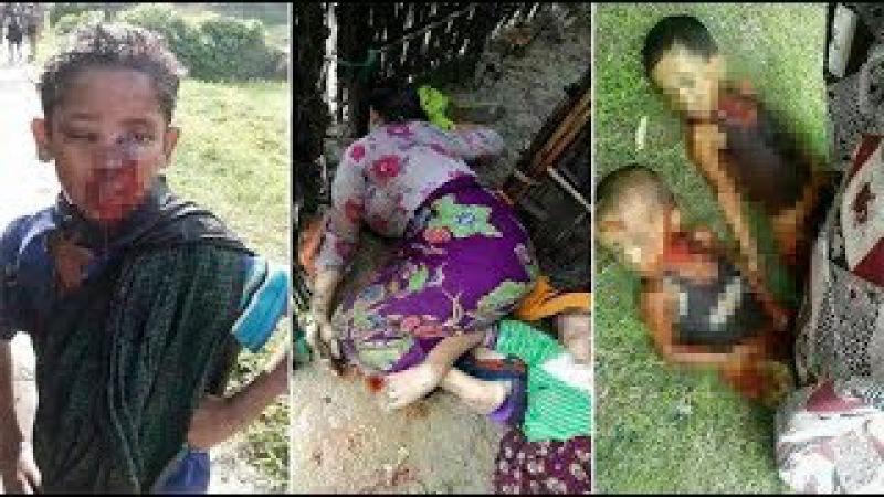 СРОЧНО Буддисты заживо сжигают Мусульман Рахинья. Геноцид мусульман (Бирма) 2017...