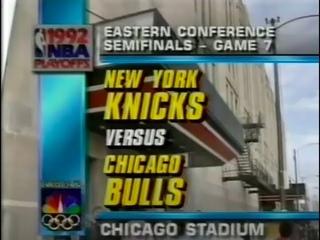 Bulls x Knicks 1992 ECSF Game 7