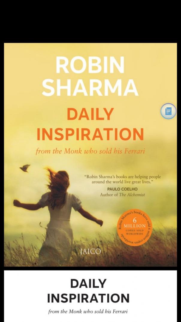 robin sharma  daily inspiration