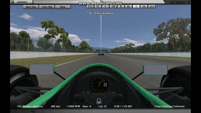 RFactor. Гонки.МЕ. Классика Ф1. F1 1988. Гран-при Мексики. Урок пропуска на круг от Дениса Журенкова