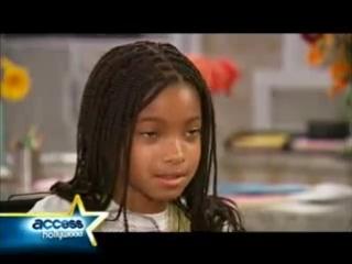 Дочурка Уилла на съёмках сериала True Jackson VP