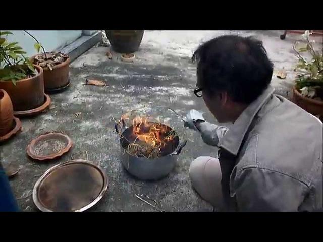 Chaang Ocarina's Raku Firing