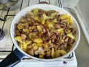 Жареная картошка с шампиньонами Пошаговый рецепт картошки с грибами