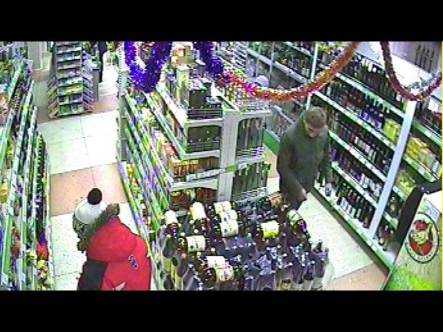 Украл водку в магазине Доброном