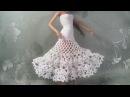 Белое платье для Барби. Часть 3. Юбка-ажур. Мастер-класс.