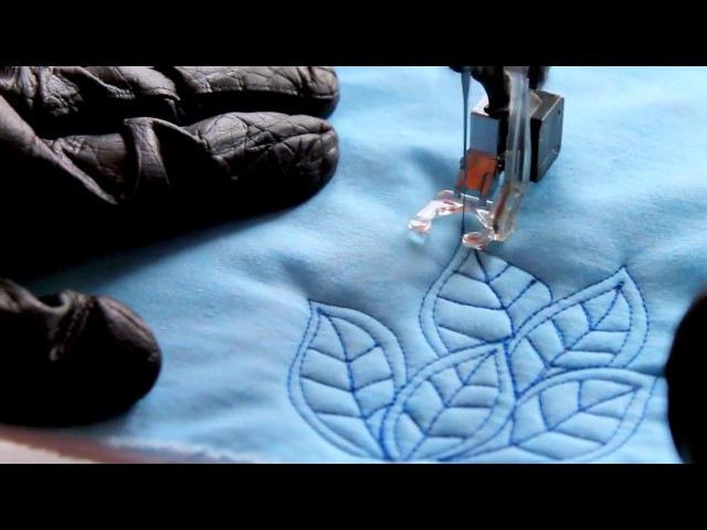 Video volné quiltování - listy