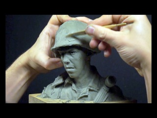 sculpting a head in clay part 1  FULL VIDEO