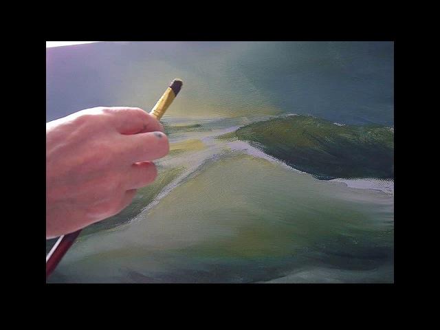 Рисование акрилом. морская волна акриловыми красками Meerlandschaft mit Acryl Seascape in Acrylic