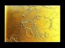 Барельеф.Процесс изготовления рельефного рисунка пума