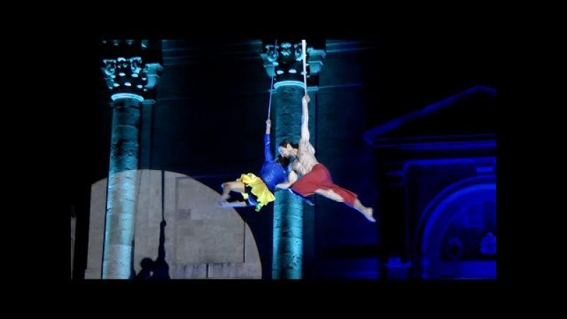 Strabilianze Da Il Giullare di Dio Aerial Dance performed by Erika Bettin and Francesco Lanciotti