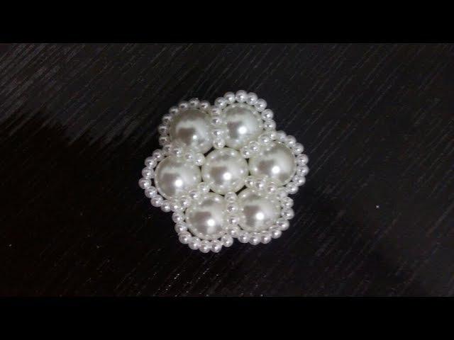 Flor de Pérola faça você mesmo DIY - flor de perla DIY - Pearl flower DIY