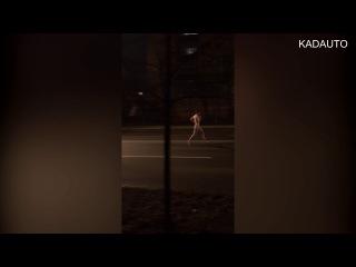 Физкульт-привет с ул. Невского в Калининграде. В ночь с 20 на 21 декабря 2017 года.