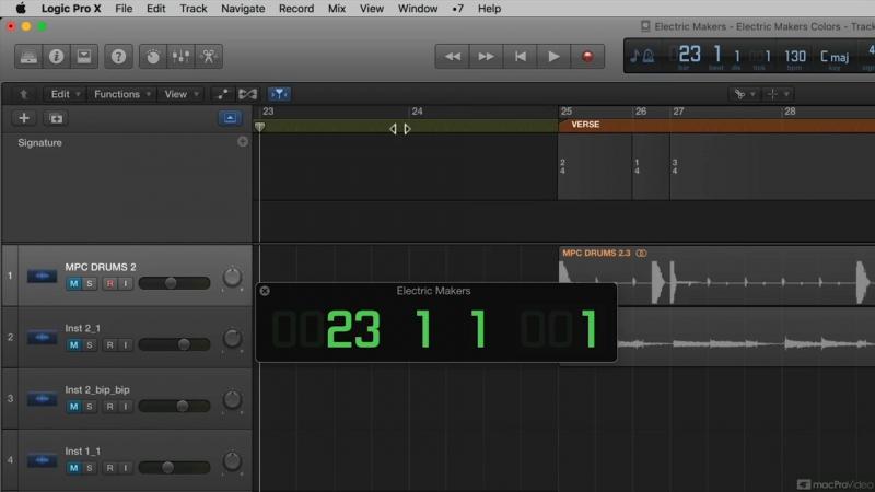 MacProVideo - Logic Pro FastTrack 105 The Global Tracks
