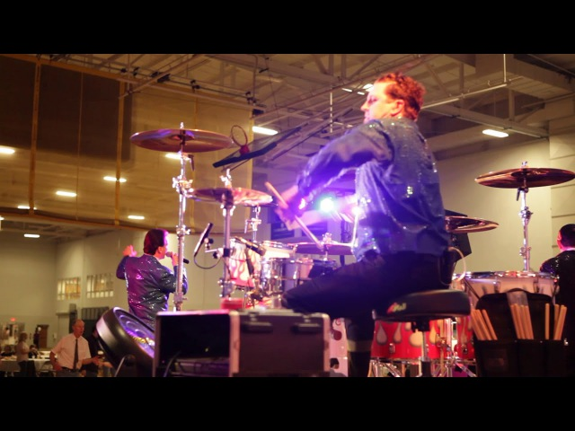 Steve Moore The Mad Drummer Behind The Drum Riser