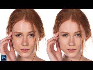 How to Fix Shiny & Oily Skin Using Brush Tool in Photoshop - Quick and Easy Portrait Retouching Tip