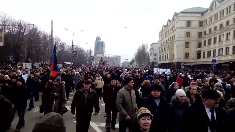 Донецк 1 марта 2014 Шествие русвесны