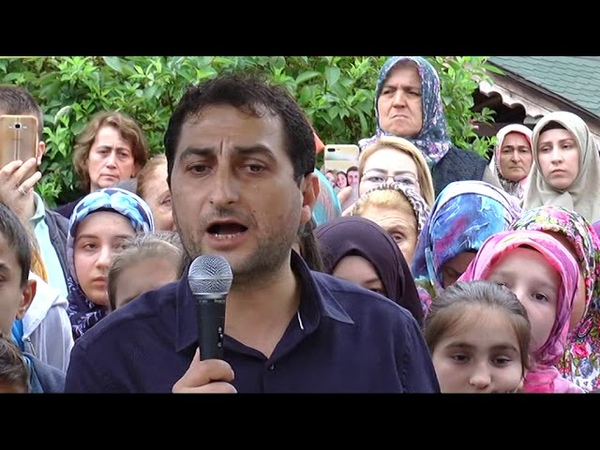 Eynesil'de acılı Baba Şaban Vatan'a destek olmak için 1 000 kişi toplandı