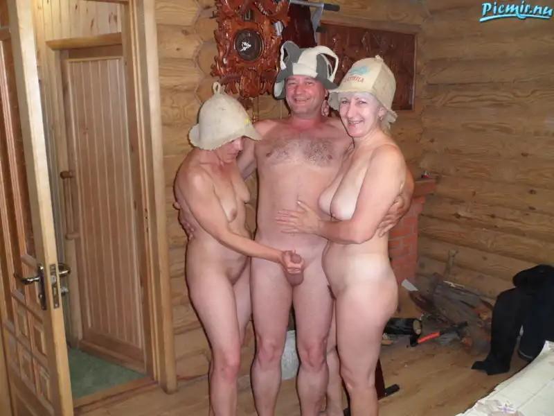 Женщины с мужчинами в бане видео частное
