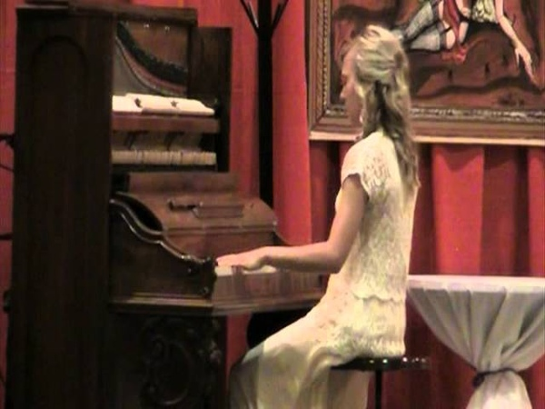 Morgan Siever at the World Championship Old-Time Piano Playing Contest