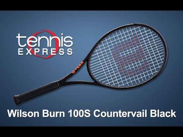 Wilson Burn 100S CV Black Tennis Racquet Review | Tennis Express