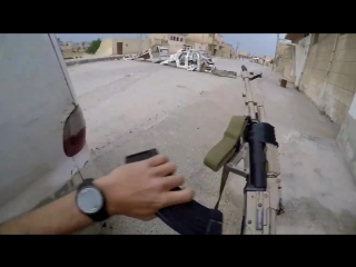 Syria GoPro Combat Footage From Polish Volunteer  YPGSDF In Heavy Urban Combat With ISIS In Tabqa