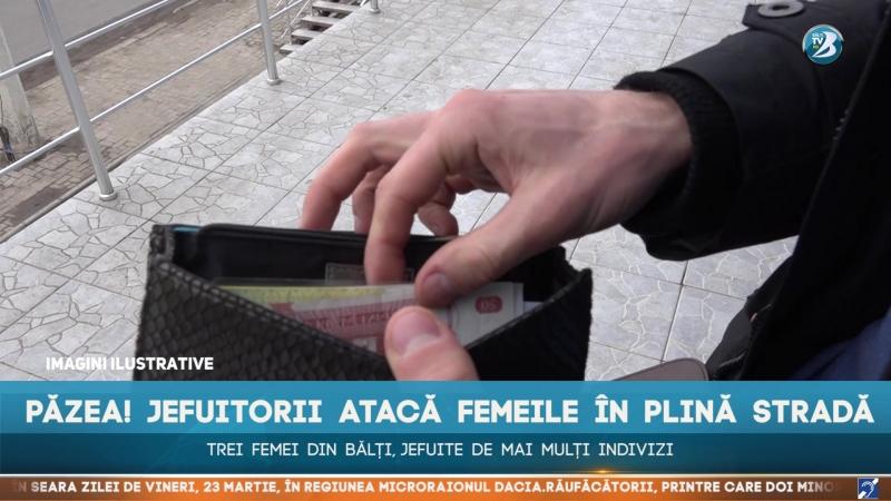 Păzea! Jefuitorii atacă femeile în plină stradă. Trei femei din Bălți, jefuite de mai mulți indivizi