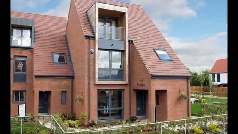 Подборка красивых фасадов кирпичных домов и коттеджей-GARDEN