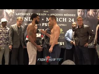 Lamont peterson vs sergey lipinets - weigh in ламонт питерсон - сергей липинец - взвешивание