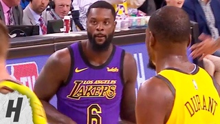 Lance Stephenson Does the Guitar Dance in front of KD | Lakers vs Warriors - Dec 25, 2018