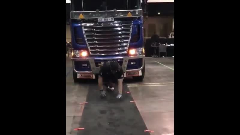 Arnold Pro Strongman Africa 2019. Михаил Шивляков (СТБ-Охрана), Truck Pull Harnass