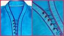How to make high neck kurta collar