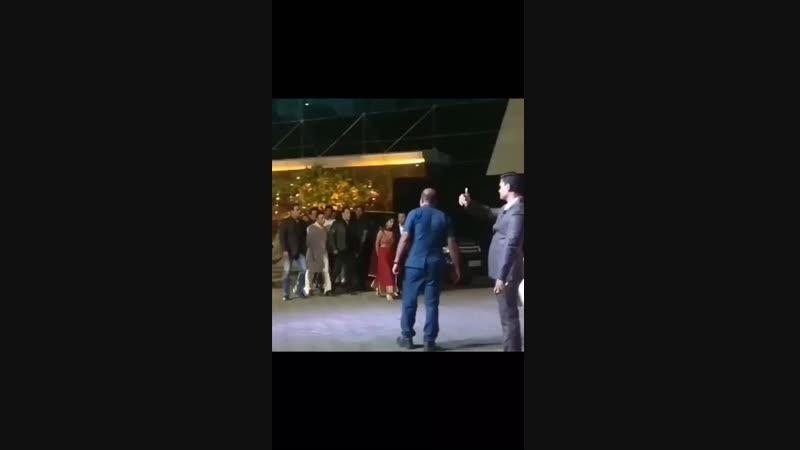 SalmanKhan at Azhar Morani and Tanya Seth's Wedding Mumbai; February 9, 2019!.mp4