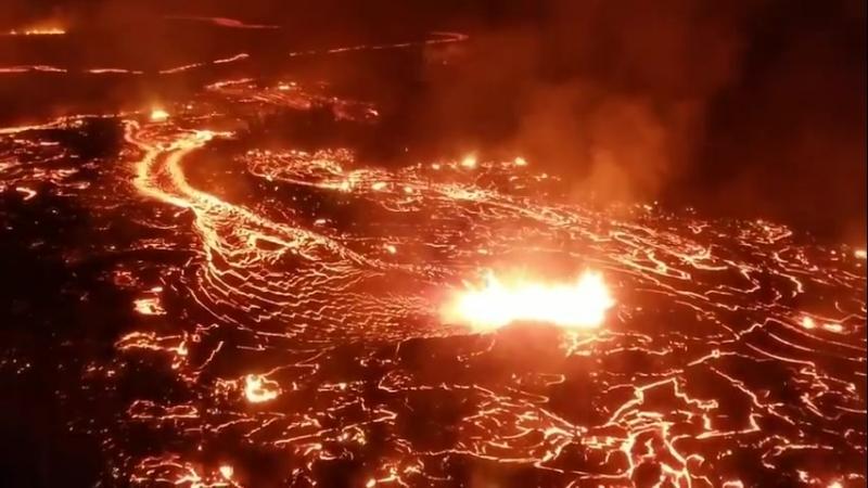 Лавовое поле вулкана Килауэа Гавайи 31 июля 2018