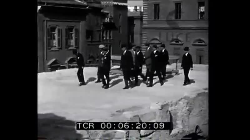 1928 Рим визит Муссолини на раскопки города