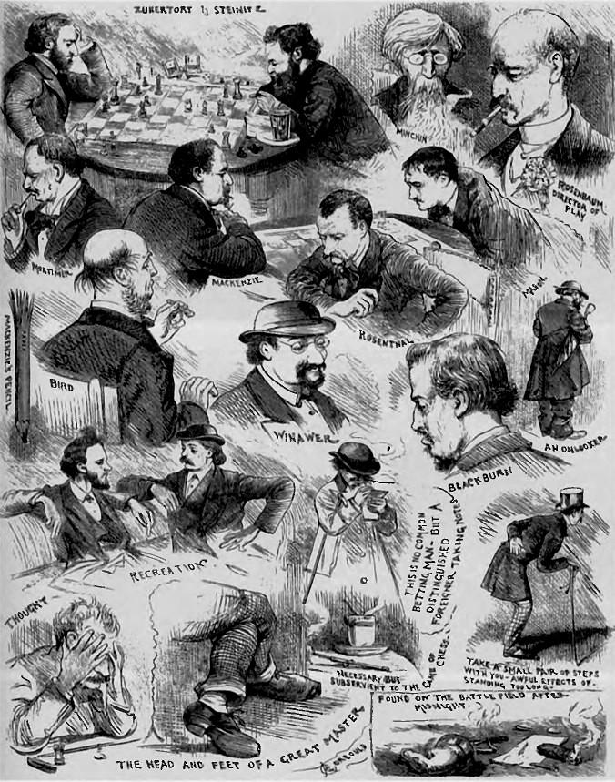 Зарисовки, сделанные во время турнира корреспондентом газеты Illustrated London News