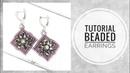 МК - Серьги из бисера, биконусов и страз Tutorial - Bead earrings, faceted bicone and rhinestone