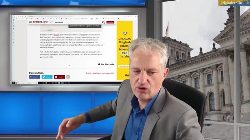 Digitaler Chronist Margarete will keine Diskussion über Merkels Zittern Ich als Donaldist protestiere!