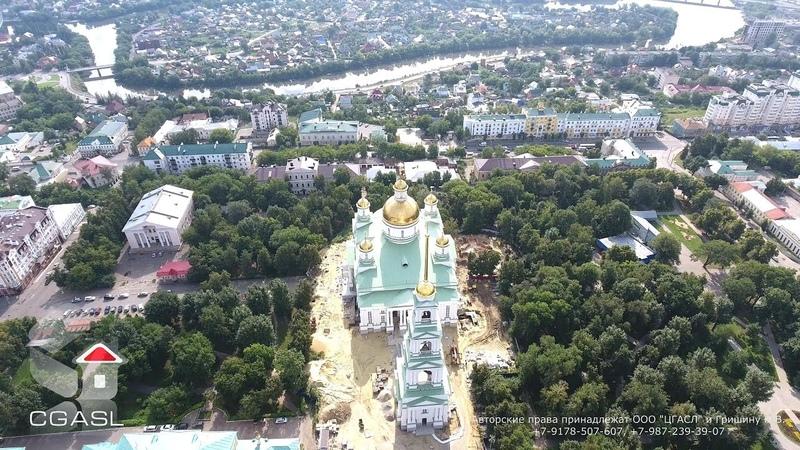 Пенза (аэросъемка центра города)/Penza (aerial view of the city center)